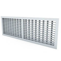 G170 - Steel exhaust grille with fixed vanes