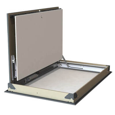 Kamouflage P - aethetic smoke evacuation shutter for ceiling mounting