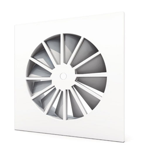 WS210 - Square swirl diffuser with fixed blades