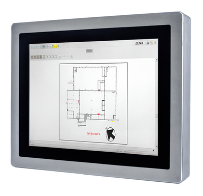 ZENiX VIEW - Panel PC with a flush-mounted touchscreen